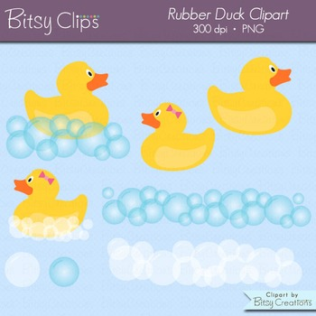 Rubber duck teaching resources teachers pay teachers rubber duck clipart commercial use clip art fandeluxe Image collections