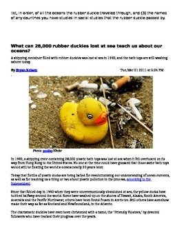 Rubber Duck Ocean Currents