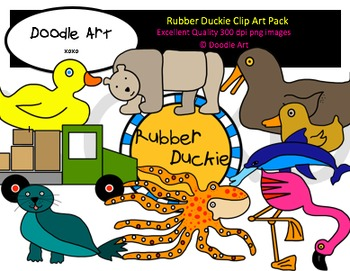 Rubber Duckie Clipart Pack