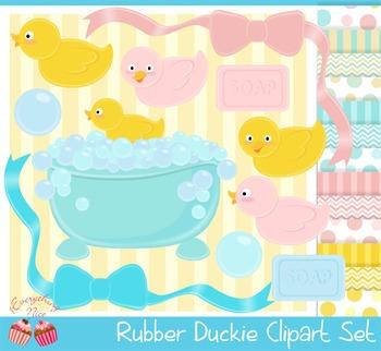 Rubber Duckies Clipart Set