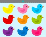 Rubber ducks clipart commercial use