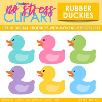 Rubber Ducks Clip Art (Digital Use Ok!)