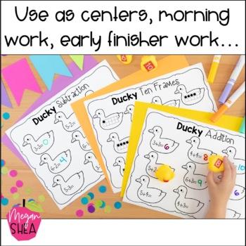 Rubber Ducky Centers Kindergarten
