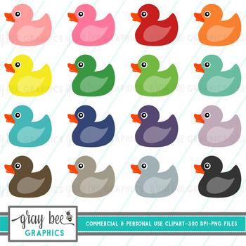 Rubber Ducky Clip Art Pack