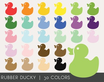 Rubber Ducky Digital Clipart, Rubber Ducky Graphics