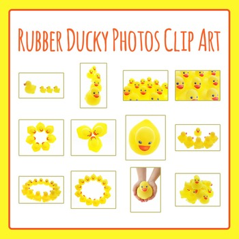 Rubber Ducky Photo / Photograph Clip Art Set for Commercial Use