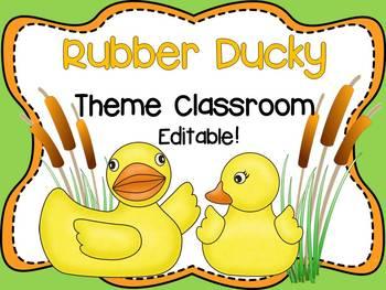 Rubber Ducky Theme Classroom {Editable}