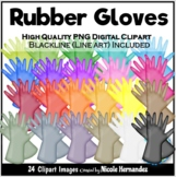 Rubber Gloves Clip Art for Personal and Commercial Use