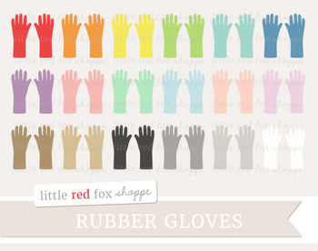 Rubber Gloves Clipart; Cleaning Supplies, Glove, Kitchen