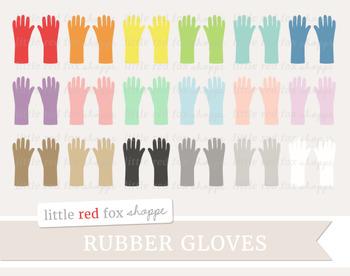 Rubber Gloves Clipart; Cleaning Supplies, Glove, Kitchen