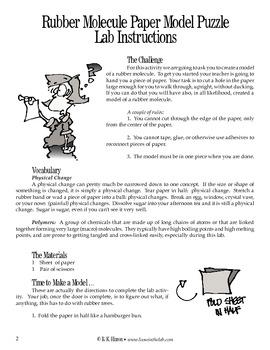 Rubber Molecule Paper Model Puzzle (Chemistry)