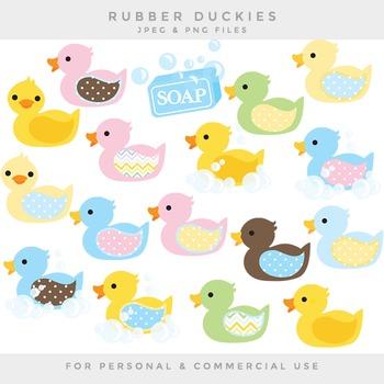 Rubber ducks clipart - nursery clip art duckies ducky whimsical