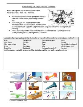 Rube Goldberg Simple Machines Summative