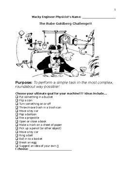 Rube Goldbergs Challenge Project