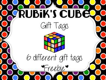 Rubik's Cube Gift Tag Freebie