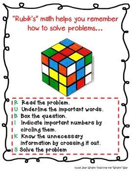 Rubik's Cube Math Poster