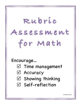 Rubric Assessment for Math
