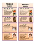 Rubric Bookmark - for independent reading and goal setting