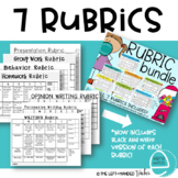 Rubric Bundle :Writing (3), Homework, Groups, Behavior and