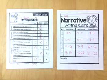 Rubric Bundle: Writing, Reader Response, and Math Rubrics for 1st Grade