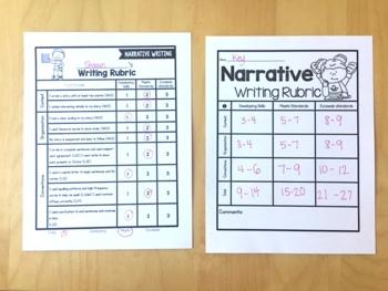 Rubric Bundle: Writing, Reader Response, and Math Rubrics for 1st Grade