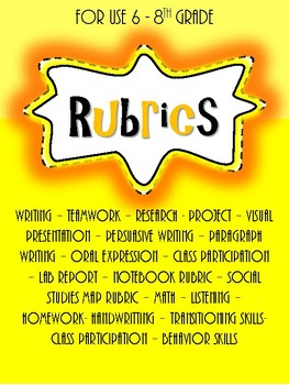 Middle school Rubrics