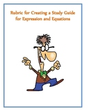 Rubric Create Your Own Expression and Modeling Equation Study Guide