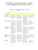 Rubric for Reading Conferences and Turn & Talks - Character Study