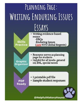 Student Planning Page- Grading Global History Essay (enduring issues,DBQ)