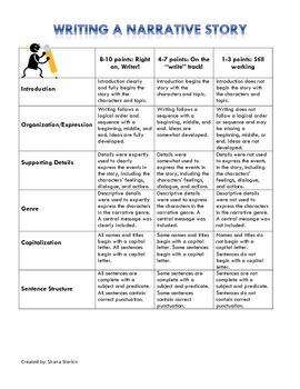 Rubric - Narrative Writing