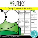 RUBRICS: Writing (3), Homework, Group Work, Behavior and Presentation-Frog Theme