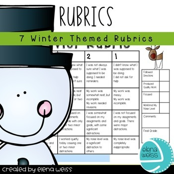 Rubrics: Writing (2), Homework, Groups, Behavior and Prese