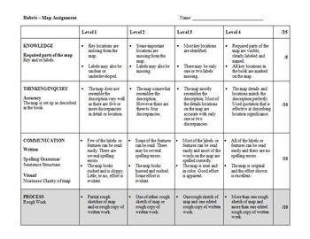 Rubric: A Map Assignment or Project