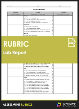 Rubric - Science Lab Report (Single Point)