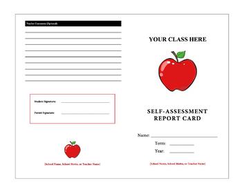 Rubric - Self-Assessment Report Card