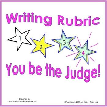Rubric (Visual Writing Rubric for Firsties)