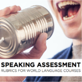 Rubric: Speaking assessment rubrics for World Language classes