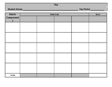 Rubric Template - Editable - Project Based