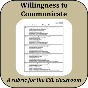 Rubric - Willingness to Communicate