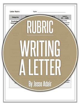 Rubric: Writing A Letter