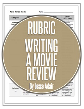 Rubric: Writing A Movie Review