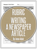 Rubric: Writing A Newspaper Article