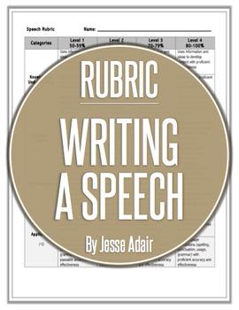 Rubric: Writing A Speech