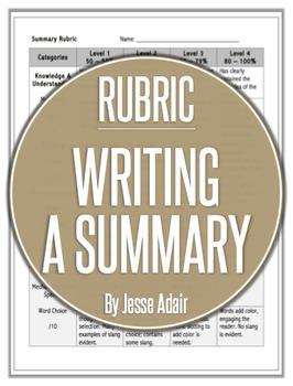 Rubric: Writing A Summary