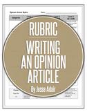 Rubric: Writing An Opinion Article