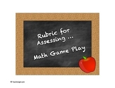 Rubric for Assessing Game Play
