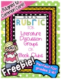 Rubric for Book Clubs, Literature Discussion Groups, or Li