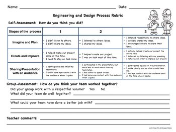 Rubric for Engineering and Design Challenges: Recording Sheet Worksheet