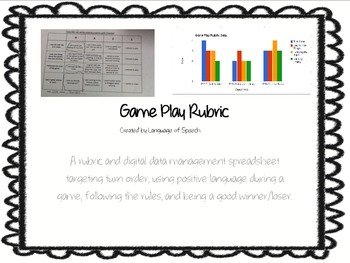 Rubric for Game Play with Accompanying Digital Data Storage Option