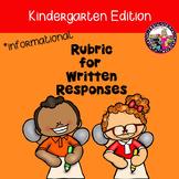 Rubric for Informational Written Response-Kindergarten